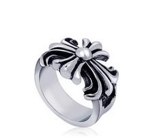 Trendy fashion titanium vintage rock men cross rings, punk style jewelry boyfriend gift - Cici's Friends store