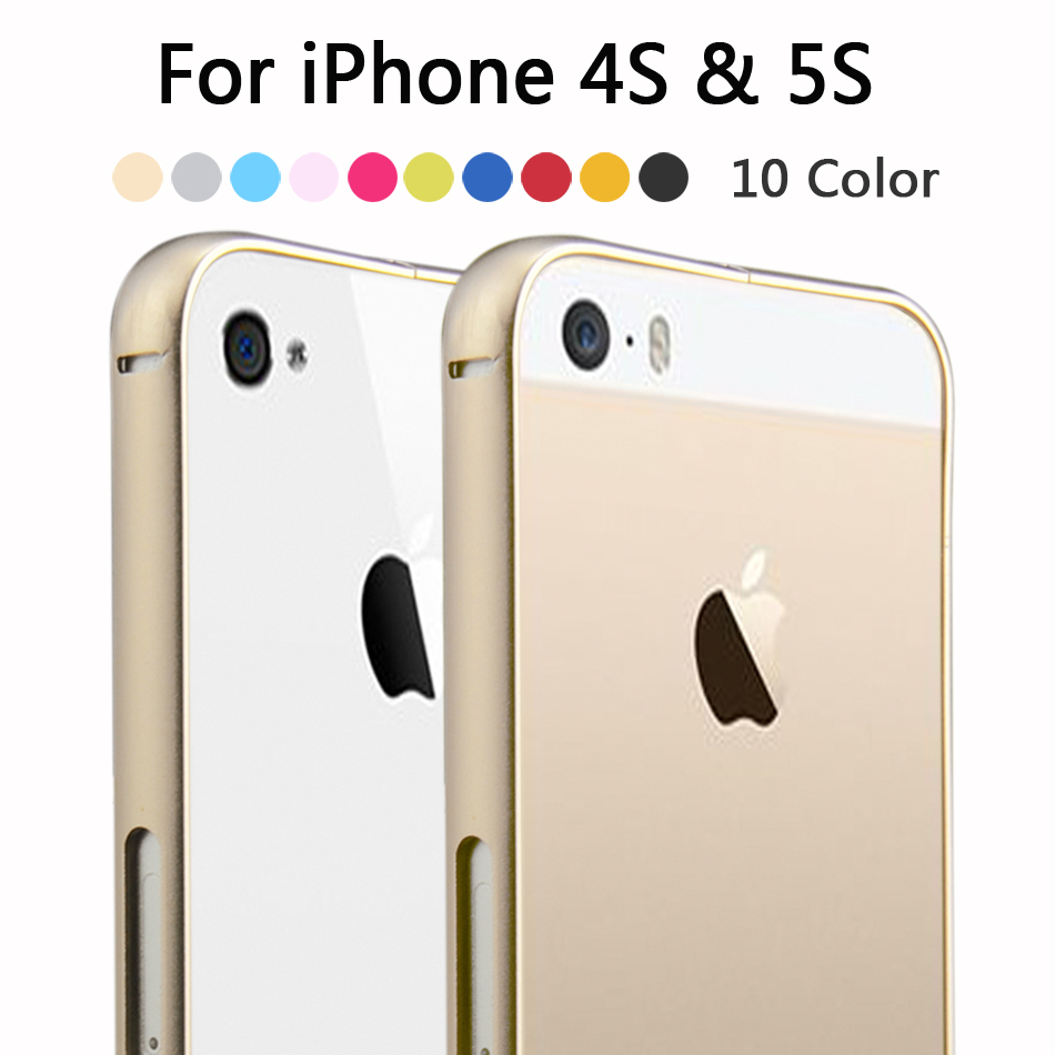 Brand New Top Quality Metal Frame Cover Mobile Phone Protective Cases Luxury Aluminum Bumper For Apple iPhone 5 5S Case(China (Mainland))
