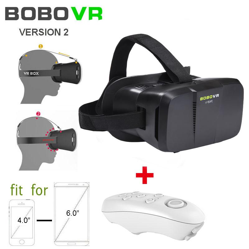 Google Cardboard BOBOVR version  2.0 Virtual Reality 3D Glasses  Headmount + wireless bluetooth game controller gamepad<br><br>Aliexpress