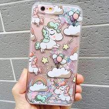Buy Newest Bling Cartoon Coque iPhone 6 Unicorn Fish Quicksand Funda Cover iPhone 6S Plus 7 7 Plus 5S 5C Unicorn Coque Case for $2.34 in AliExpress store
