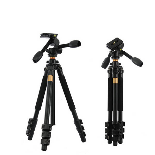 New QZSD Q470 Alu-alloy camera tripod 4 sections 3D head load bearing 10KG video recorder professional tripod for DSLR camera(China (Mainland))