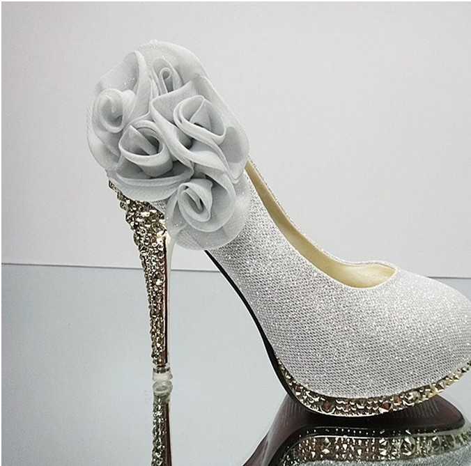 New Sexy wedding shoes for Women pumps Platform Pumps High heels sapatos femininos Big flower shoes Many styles Zapatos mujer(China (Mainland))