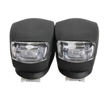 R1B1 Black 2 Pcs LED Bicycle Light Cheap Head Front Rear Wheel Safety Bike Light Lamp Free Shipping(China (Mainland))