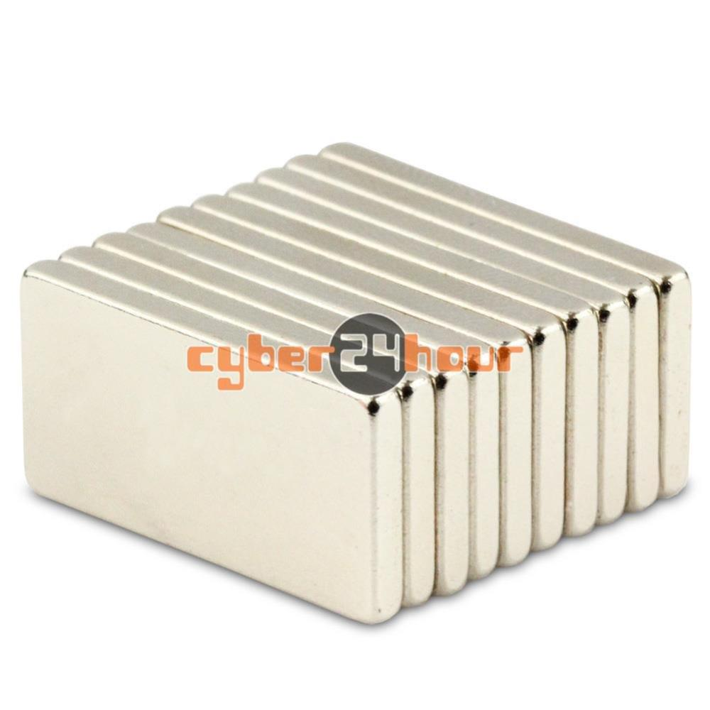 Гаджет  20pcs 20mm x 10mm x 2mm N50 Strong Rare Earth Neodymium Block Cuboid Magnets None Строительство и Недвижимость