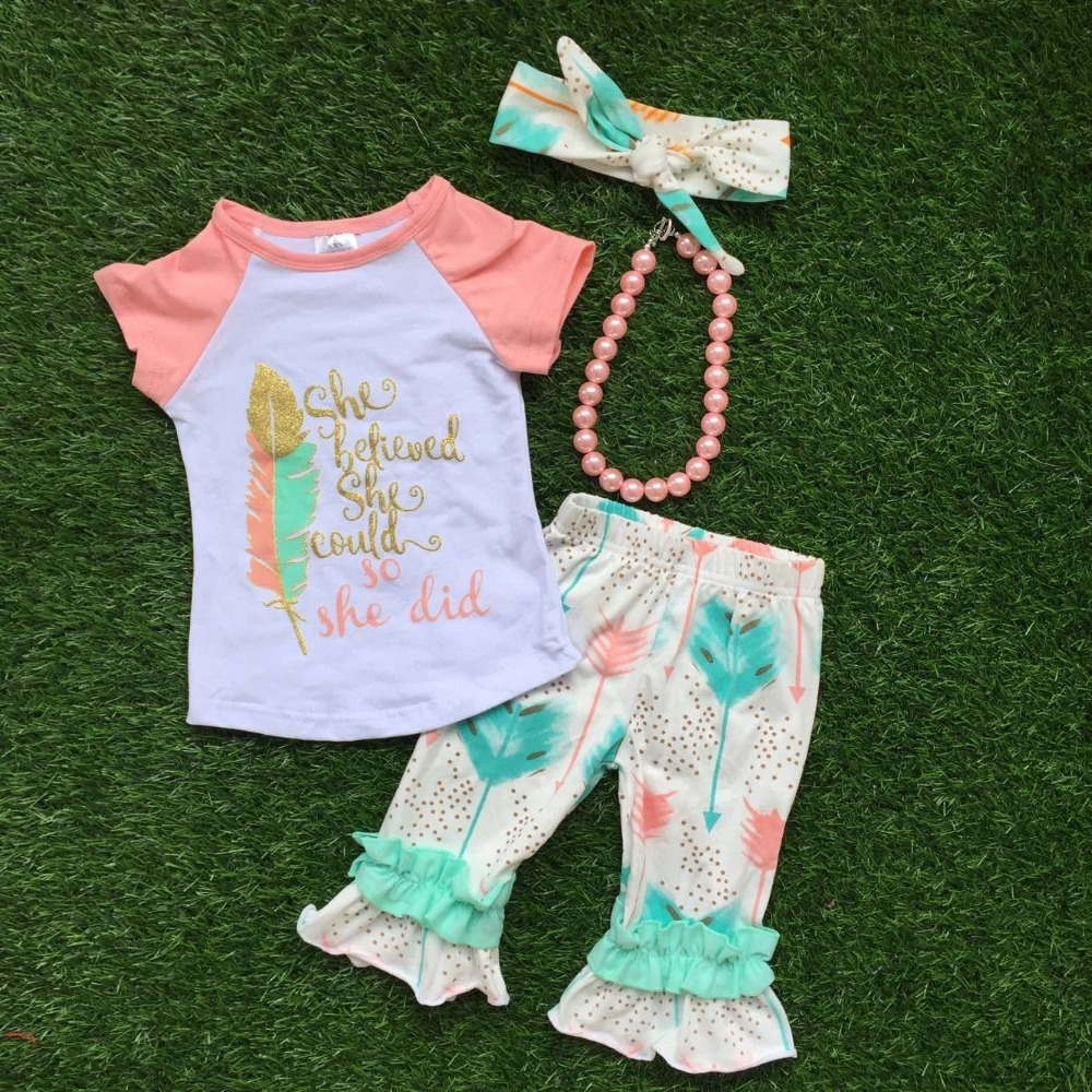 Aliexpress.com  Buy 2016 Summer Baby Child Girls OUTFITS Capris Cute Clothig Boutique Clothes ...