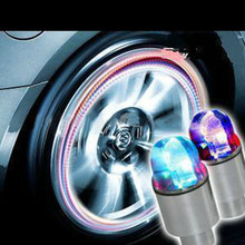New Arrival Auto Accessories Bike Supplies Neon Blue Strobe LED Tire Valve Caps M25(China (Mainland))