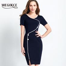 Новая коллекция от MIEGOFCE Элегантная нарядная платье женское платье Ввиде карандаша имеет округленную шею также можно носить в офисном варианте высокачественный короткий рукав(China (Mainland))