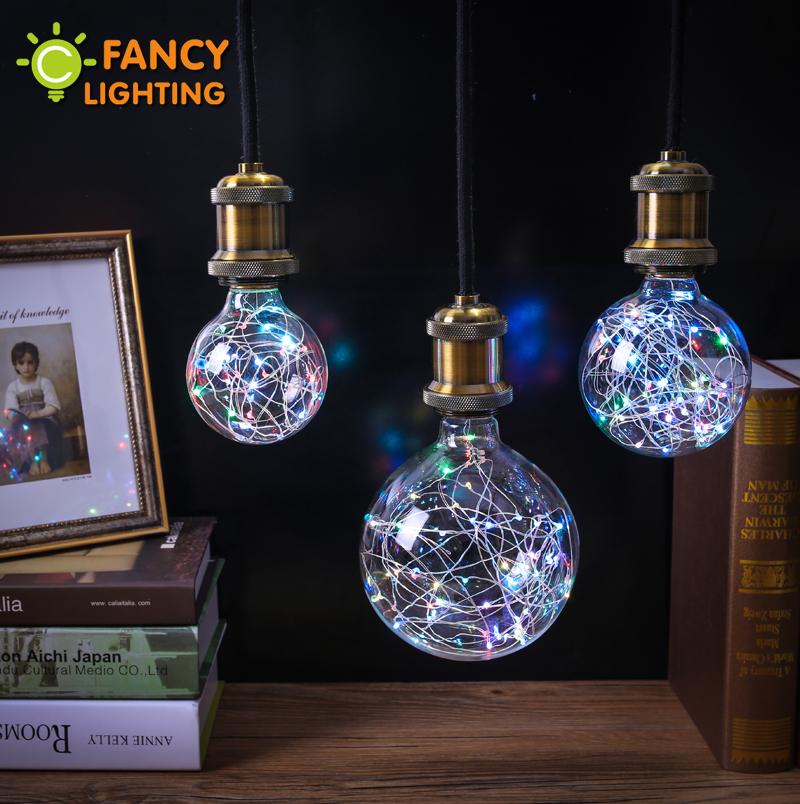 Holiday lights rgb led bulb christmas string light indoor e27 fairy light 110v 220v edison decorative lamp navidad FANCYLIGHTING(China (Mainland))