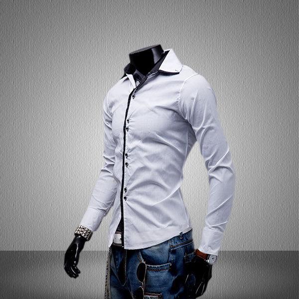 Мужская повседневная рубашка Fashion Camisas Hombre Slim Fit Camisas Masculinas U215 ultrafire 2400mah 3 7v protected 18650 cell