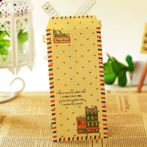 25 pieces/lot Cute Cartoon Kawaii Kraft Paper Postal Envelope for Gift Children Korean Stationery Free shipping 709(China (Mainland))