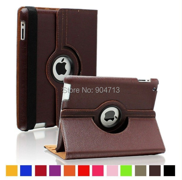 360 Rotating PU Leather Stand Smart Case Cover iPad 2 3 4 Flip Auto Wake/Sleep , - Online Store 904713 store
