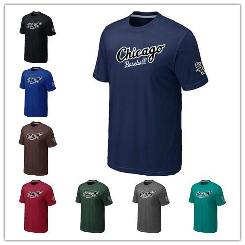 Chicago White Sox Cheap Baseball T Shirts Short Sleeve O-Neck Practice T-shirt wholesale White Sox Cotton Shirts 14 Colors(China (Mainland))