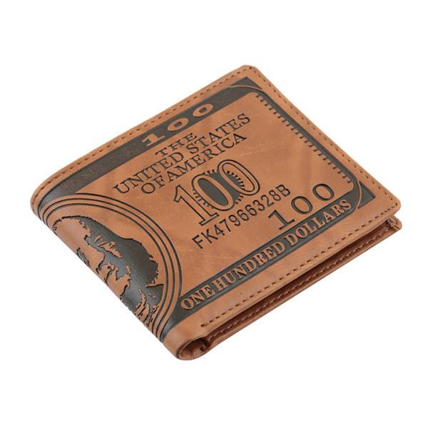 1Piece Men Wallet Pockets Card US Dollar Bill Money Wallet Man BIFOLD Wallet Dollar Wallet Newest