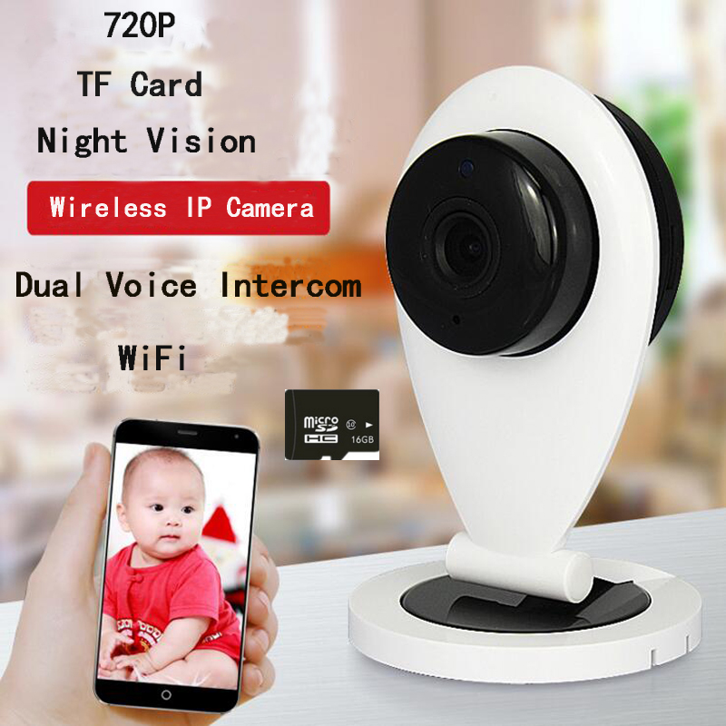 HD Mini Wireless Wifi IP Camera Night Vision Smart P2P Baby Monitor Network Indoor Camera Watch IP With 16GB TF Card Remote Cam<br><br>Aliexpress