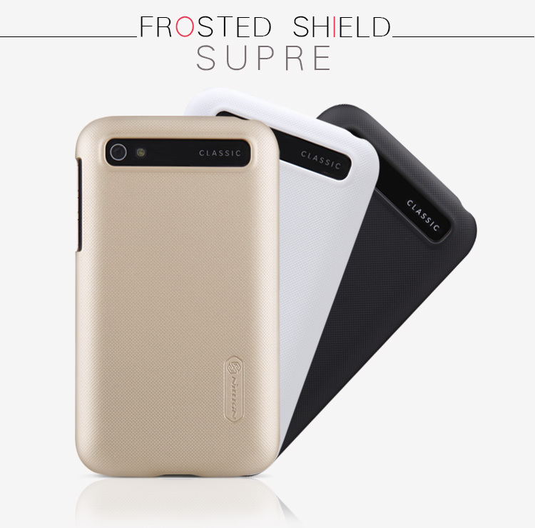 1pc Nillkin Super Frosted Shield case Mobile phone cover For BlackBerry Classic Q20 + screen protector + Retailed Package(China (Mainland))