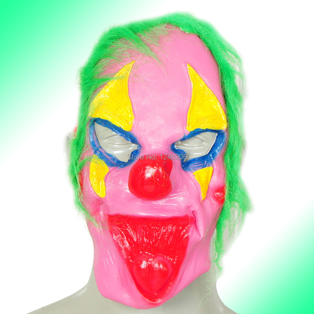 Green Faux Fur Decor Fuchsia Red Yellow Blue Masquerade Costume Clown Mask Discount 50 Holidy(China (Mainland))
