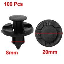 100 Pcs/lot 8mm Dia Hole Black Plastic Push Fastener Rivets Clips for Car Automobile Discount 50(China (Mainland))