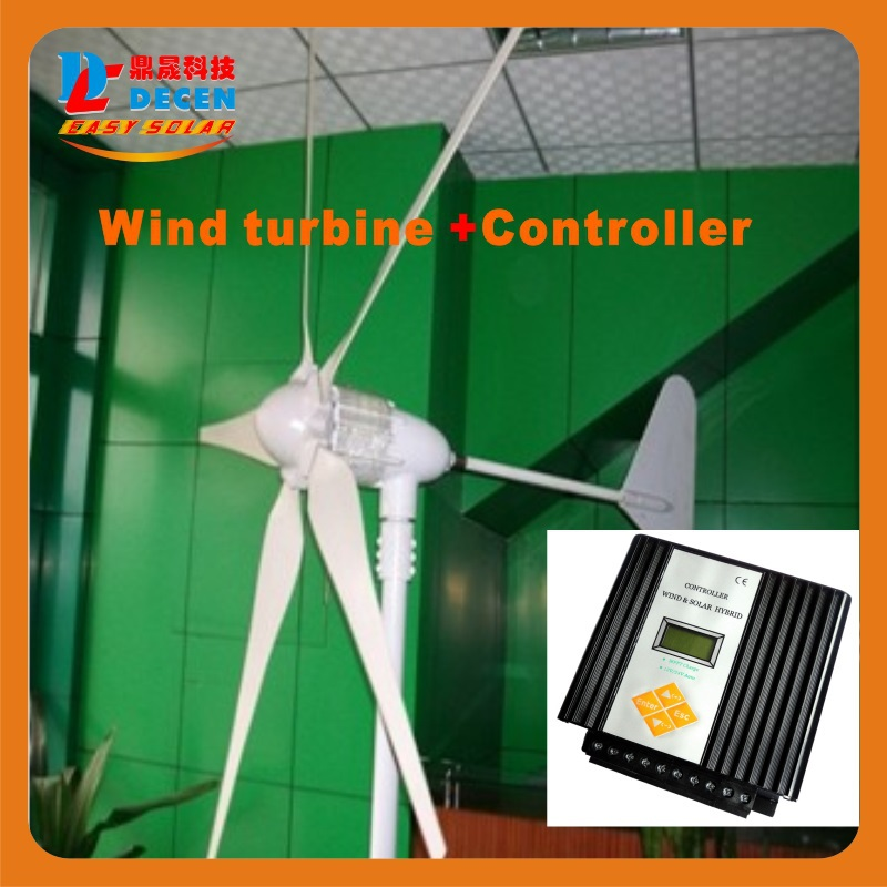1PC 600W 5blades High efficiency wind generator Small size Low weight. Low noise Easy install +1 PC MPPT controller(China (Mainland))