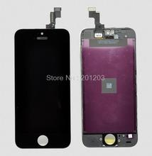 LCD For iphone 5S LCD Screen+Touch Screen Digitizer Assembly Black OR White + Tools Free Shipping By DHL 5pcs/lot