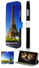 Eiffel Tower hybrid retail 1pcs luxury Mobile Phone leather Bag Stand Wallet Cases Back Cover for ipod touch 5 5th free shipping