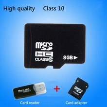 High quality Real capacity memory card 8GB class 10 micro sd card Pass h2testw Free Adapter + Reader