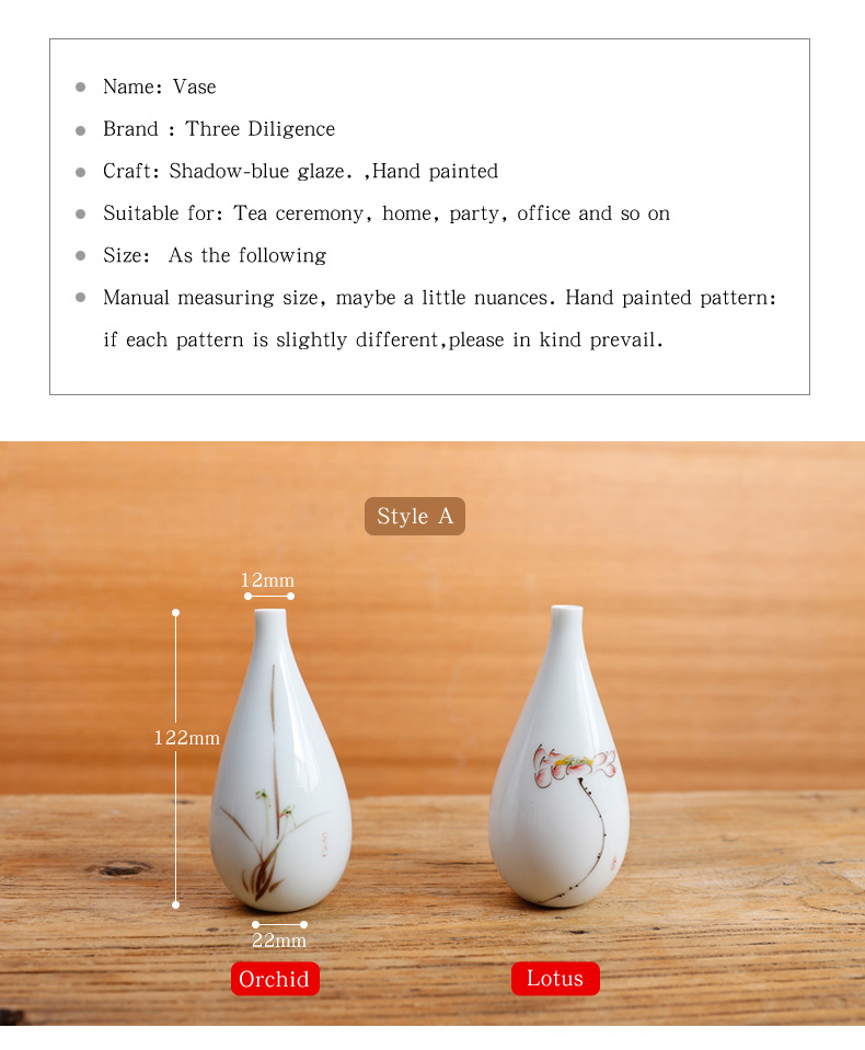 Shadow-blue Glaze Antique Porcelain Flower Vase Set Jingdezhen Ceramic Vases Home Decoration Wedding Ornament Furnishing Article