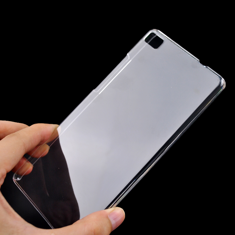Ultra Thin For Huawei P8 Lite Case Cover Clear Transparent Crystal Hard Back Case For Huawei P8 Lite Cell Phone Shell Cover(China (Mainland))
