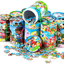The new wooden children puzzle educational toys 80 barreled cartoon jigsaw puzzle baby gift toys(China (Mainland))