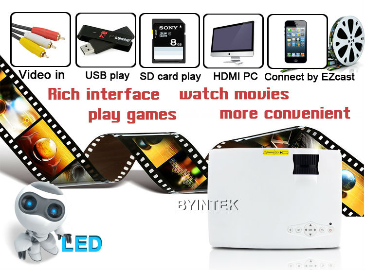 Home Theater Cinema 1900lumens 1080P HD HDMI USB Video Digital portable piCO LCD LED Mini Projector Proyector Beamer Projetor