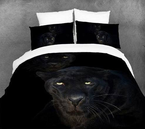 3D Blank panther bedding set queen size quilt duvet cover designer sheets bed in a bag bedroom linen animal print 100% cotton(China (Mainland))