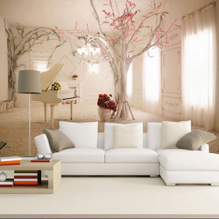 Wholesale 3d mural wallpaper living room sofa background for 3d mural wallpaper for bedroom