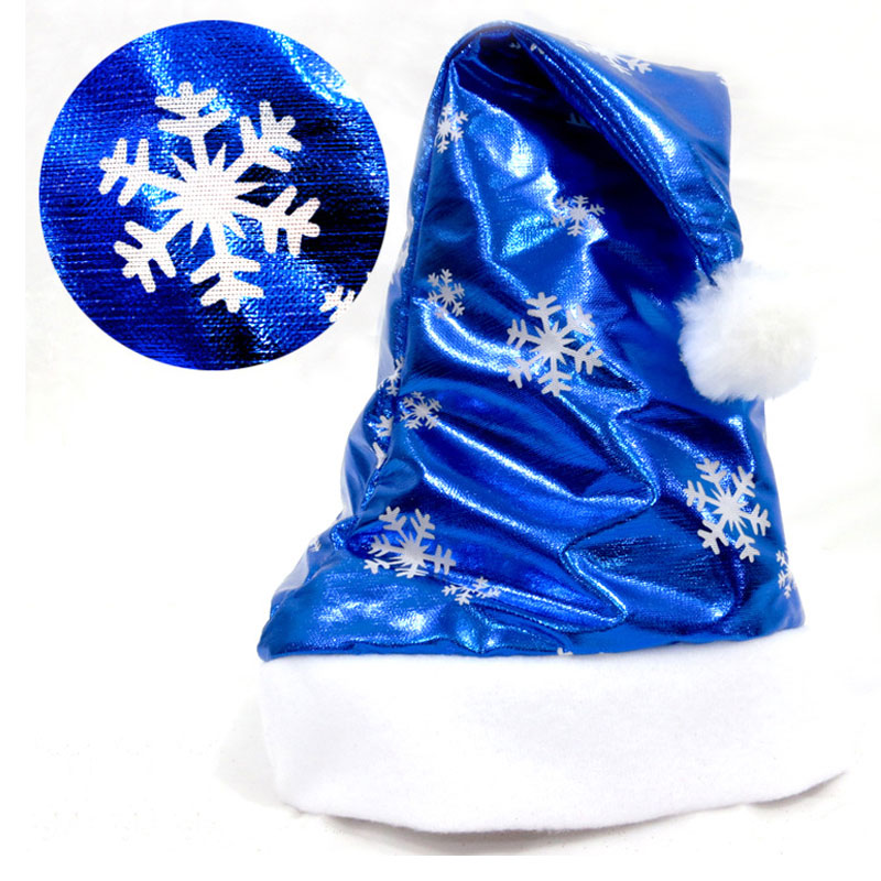 Christmas Hats Santa De La Sombreros Bling Cloth Cute Fashion Hats Christmas Ornaments Christmas Gift For Child Adult(China (Mainland))