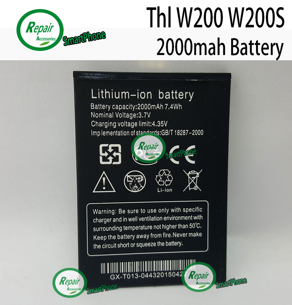 High Quality Original 2000mAh Li ion Battery Replacement For THL W200 W200S W200C Smart Phone Free