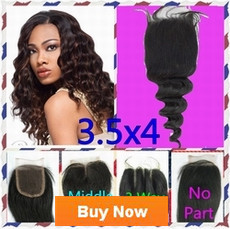 Brazilian Hair Peruvian Hair 3 way part middle part free part No part silk closure hair peices Queen hair products new star Seven days beauty Loose wave Lace Closure Human Hair Closure Top Closure Bleached Knots-1(1)