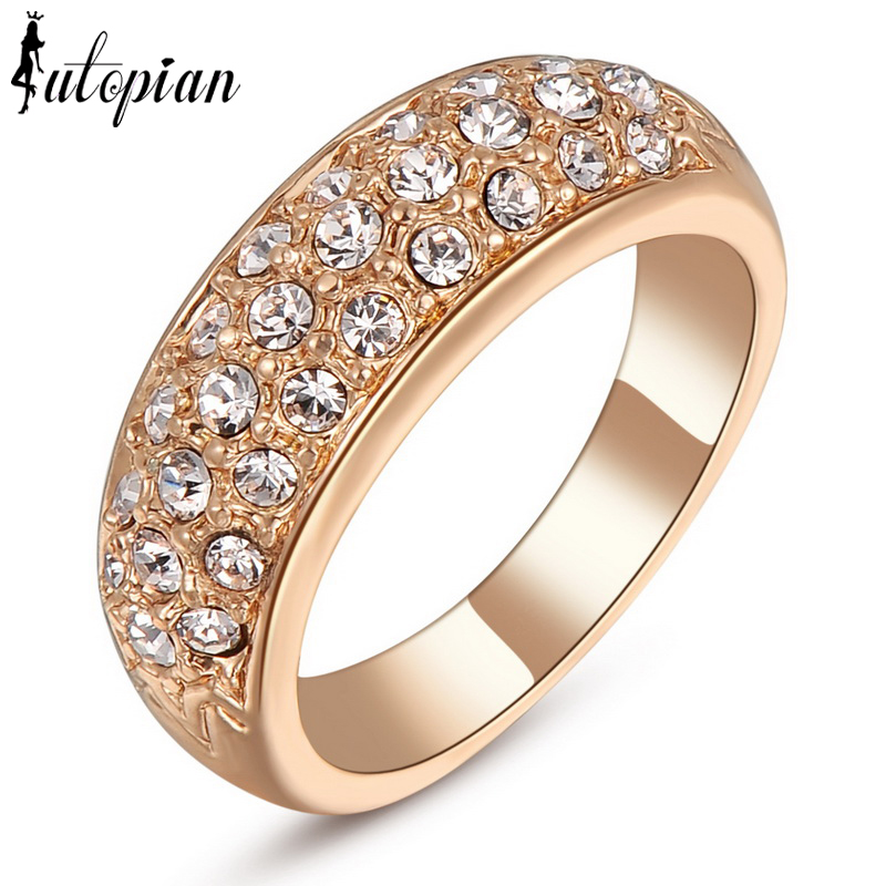 Iutopian Brand Rose Gold Plated Ring Wedding Jewelry Low Price Quality Dont L
