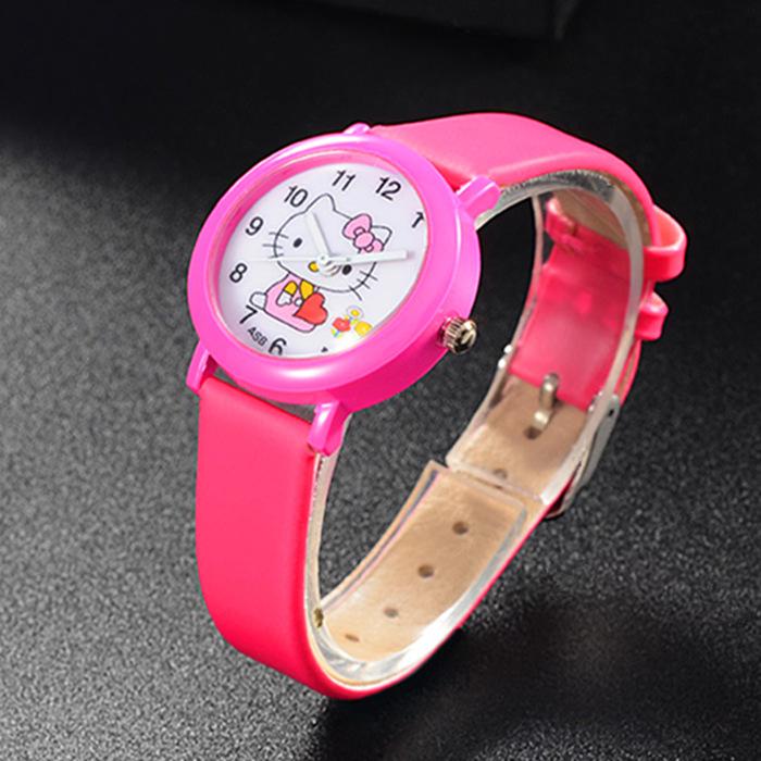 New arrived cartoon quartz watch hello kitty fashion wristwatch for kid children cute elegant relogio feminino masculino clock(China (Mainland))