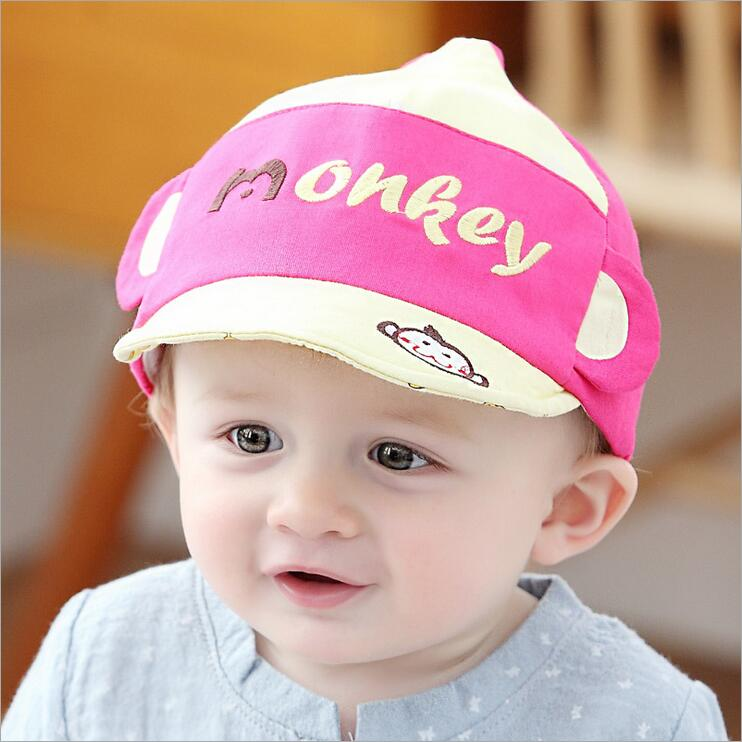 2016 New Fashion Cute Cartoon Hat Baby Hat Cotton Infant Baseball Cap 6-24 Monthes Girls Boys Summer Hat(China (Mainland))