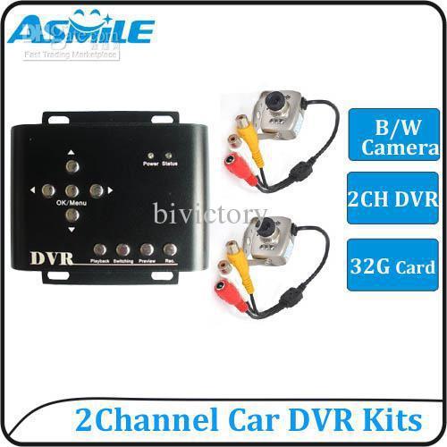 cctv systems 2ch 2 mini cctv camera surveillance systems from asmile<br><br>Aliexpress