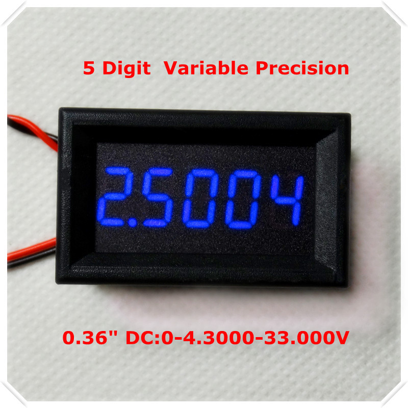 """Variable Precision DC 0-33.000V 0.36"""" Four Wires Digital Voltmeter voltage panel meter led display Color: Blue [ 4 pieces / lot](China (Mainland))"""