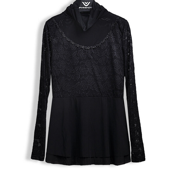 Blusas Body Black Formal Blouses For Womens Plus Size Tops Fashion 2015 New Sexy Lace Shirts ...