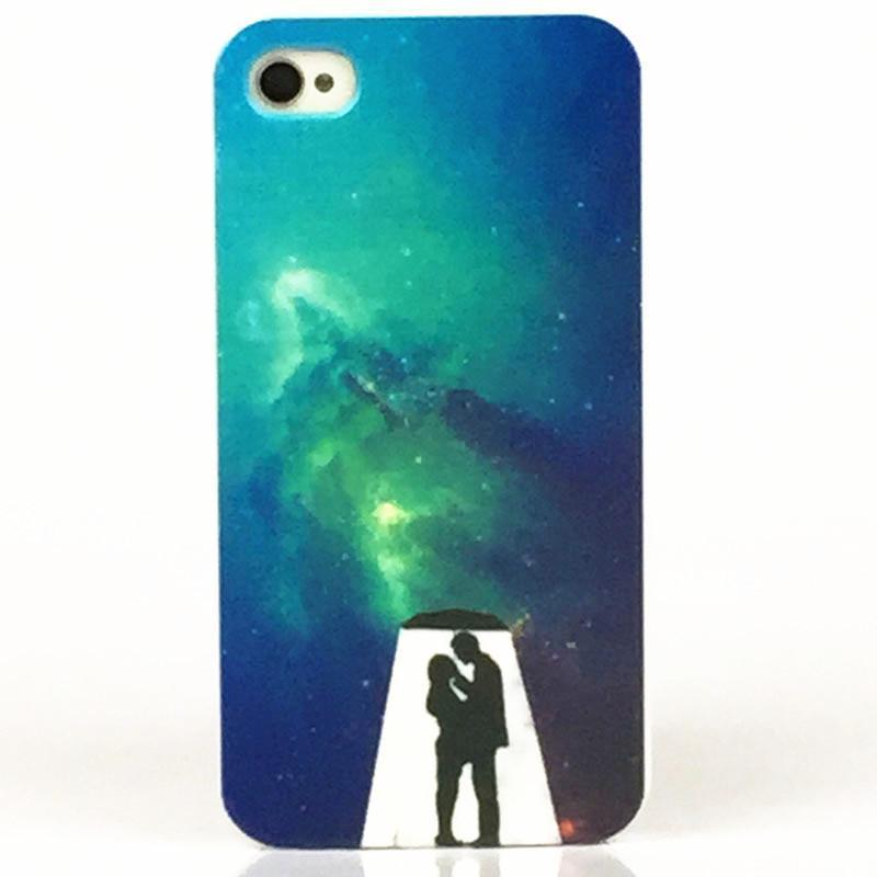 2015 New Fashion Lovers Couples Cases for iPhone 4 4s PC Hard Luxury Back Cover Housing for iPhone 4G Cheap Price Wholesale(China (Mainland))