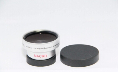 43mm 0.45X Wide-angle Lens Attached Macro Conversion Lenses Pro Digital Precision Wide Angle Converter Silver Camera(China (Mainland))