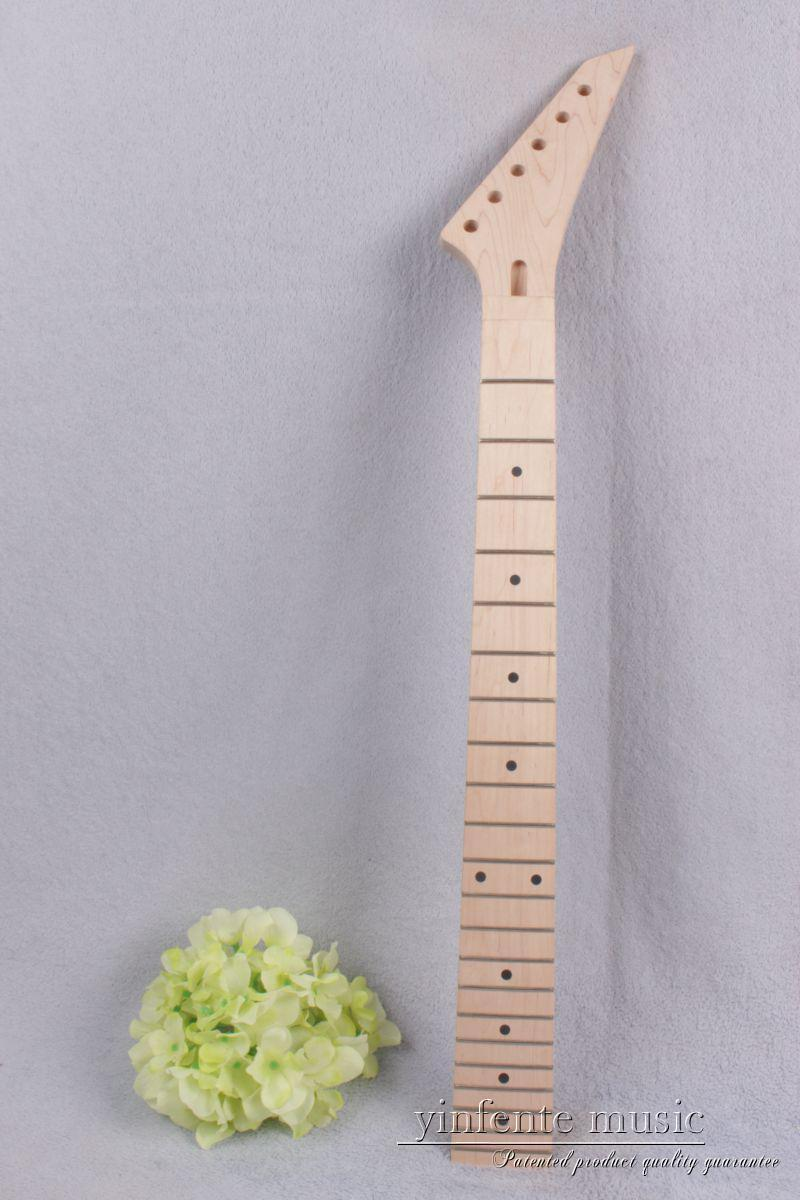 Electric Guitar Neck Maple wood Dot Inlaid 22 fret 25.5 inch New Yinfente #744<br>
