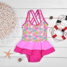 Buy Girls Swimsuits One Piece 2017 Clothing Girl Child Kids Bathing Suit Children's Swimwear Swimming Beach Wear for $11.12 in AliExpress store