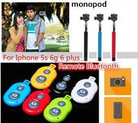 Расширяемая нержавеющей стали selfie палку + bluetooth + телефона держателя монопод для ios android телефоны или камеры Селф