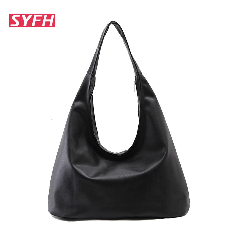 Hand Carry Women Handbag Bags 2016 Summer Shoulder Bags Black Large Capacity Handbag Dumplings Type women's Casual Bag(China (Mainland))
