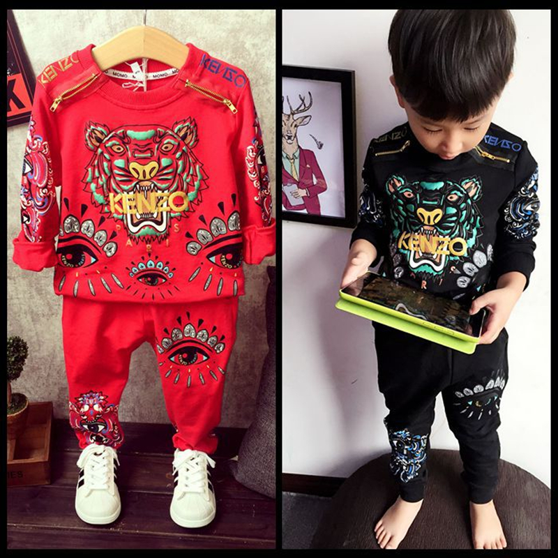 Tiger Print boys Clothing Set Spring Autumn New Kids clothes Sports Suit Long Sleeve Top &amp; Harem Pants children clothing Sets<br><br>Aliexpress