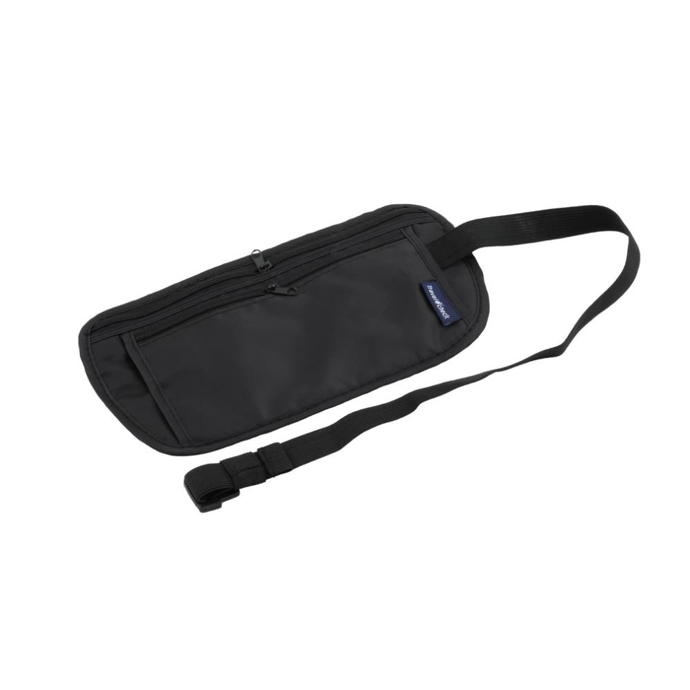 1pcs Hot Worldwide Travel Pouch Zippered Waist Compact Security Money Waist Belt Bag