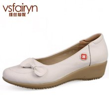 Weisixianni cowhide leather women s singles shoes slope with the heel shoes white white shoes nurse