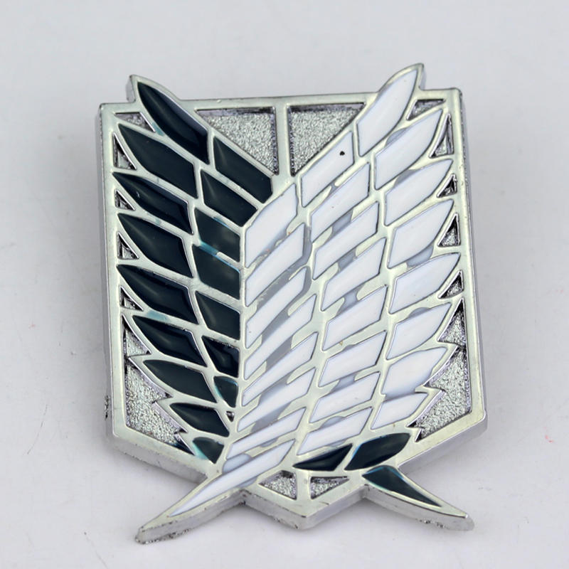 Anime Series clothes Accessory Attack the Titan brooches Pin High quality silver badge pin hat tie tack brooches free shipping(China (Mainland))